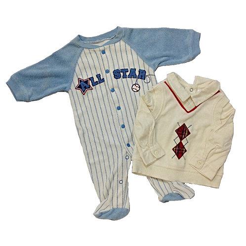 2pcs Size 0-6Mth Boy Clothes