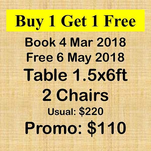 Mar & May 2018 Flea Market at Concorde Hotel