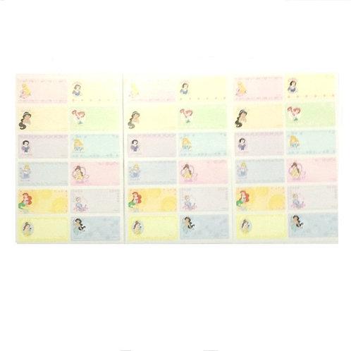 3pcs Princess Name Stickers
