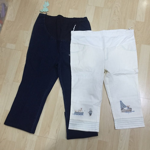 BN 2pcs M-L Maternity Jeans & Pants