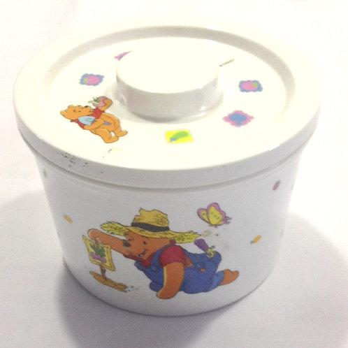 Pooh Melamine Bowl with Lid