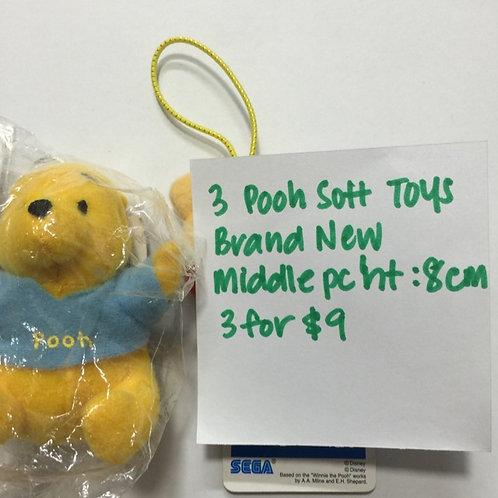 BN 3pcs Pooh Toys
