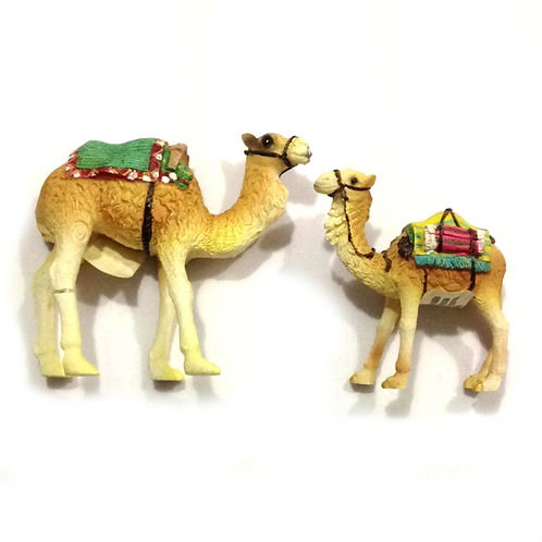 Free Delivery: 2pcs Antique Camels Display