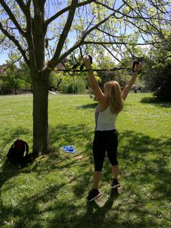 allenamento TRX con Giovanna