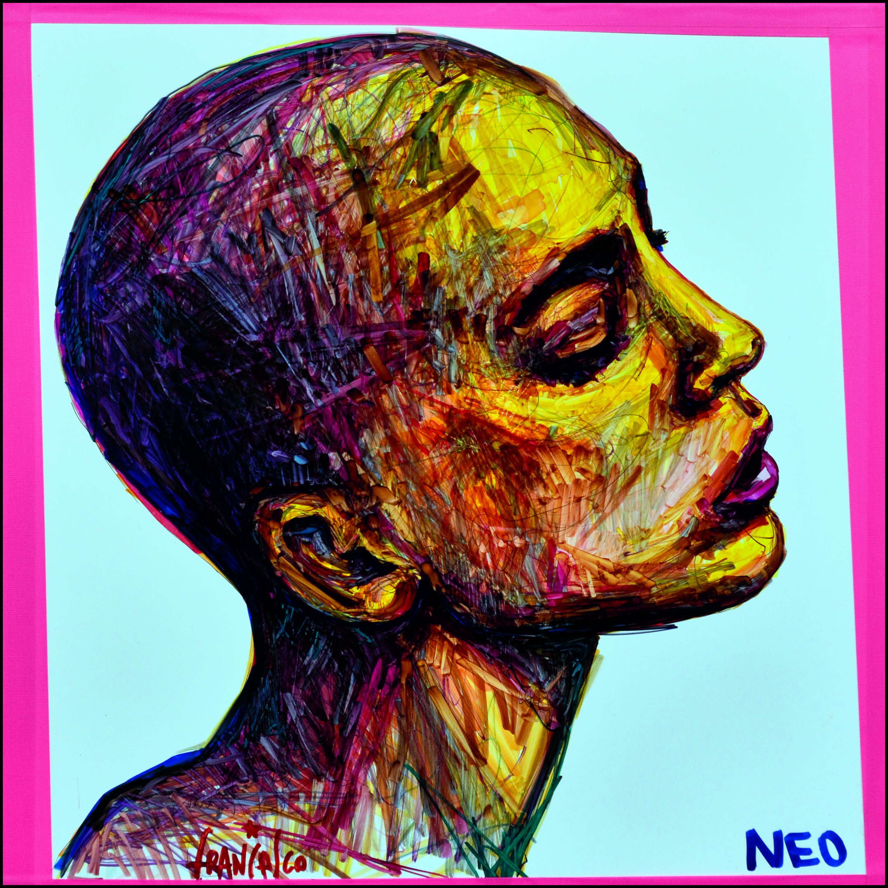Francesco NEO_NIRVANA_Marker_55 x 55 cm_