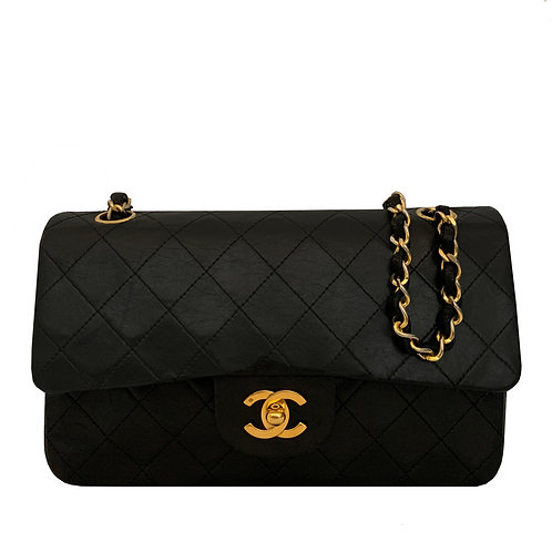 CHANEL CLASSIC SMALL BLACK GHW