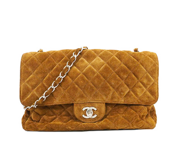 CHANEL SUEDE FLAP BAG - 28.300KR