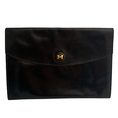 HERMÈS ENVELOPE CLUTCH BLACK