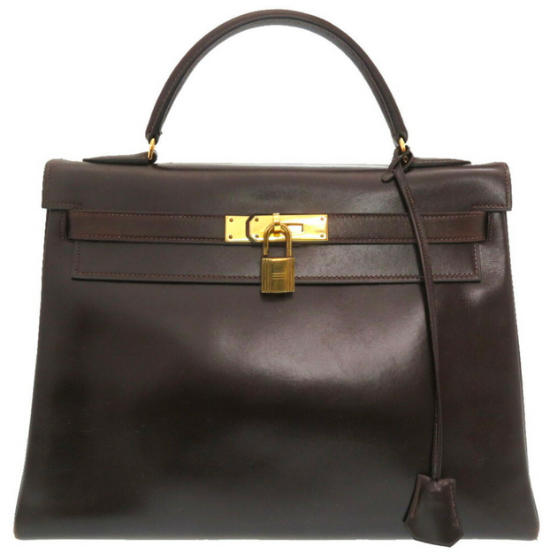 HERMÈS KELLY BROWN BOX CALF - 59.800KR