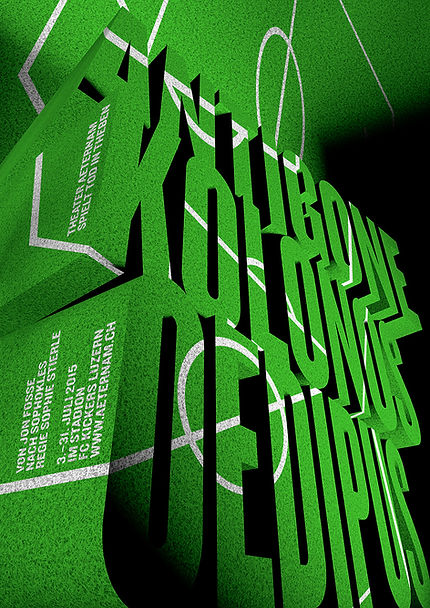 Plakat von Erich Brechbühl für «Einige Nachrichten an das All»