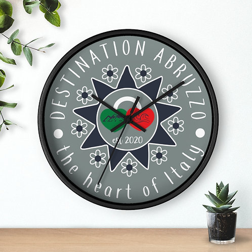 Destination Abruzzo Wall clock