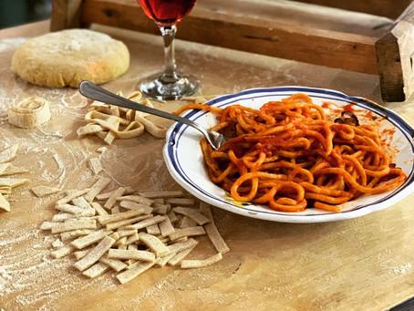 Traditional Pasta alla Chitarra con Pallottine Recipe
