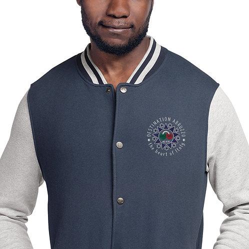 Destination Abruzzo Embroidered Champion Bomber Jacket