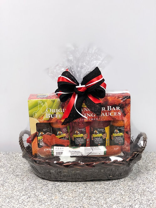 Pizza and Wings Gift Basket