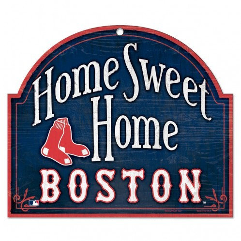 """BOSTON RED SOX WOOD ARCHED SIGN 10"""" X 11"""""""