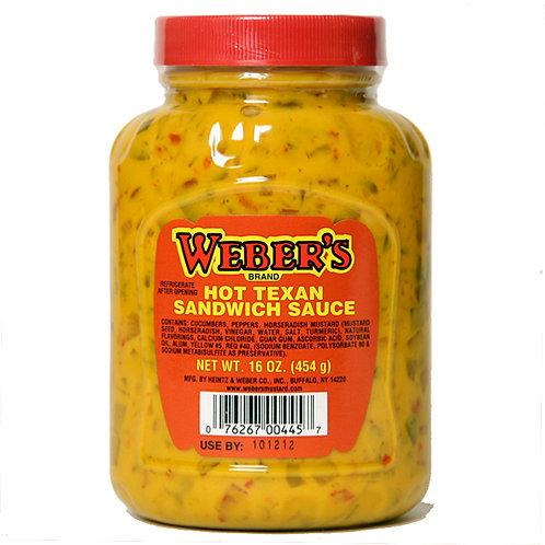 WEBER'S HOT TEXAN SANDWICH SAUCE