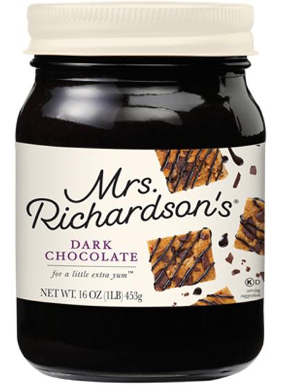 MRS. RICHARDSON'S DESSERT TOPPING - DARK CHOCOLATE JAR