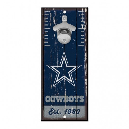 DALLAS COWBOYS BOTTLE OPENER SIGN 5X11