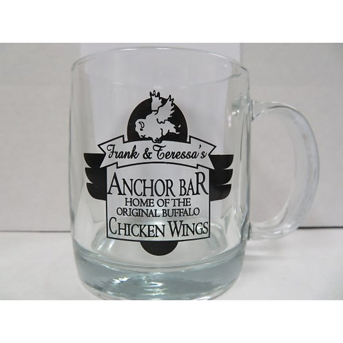 ANCHOR BAR GLASS MUG (Clear with Black Lettering)