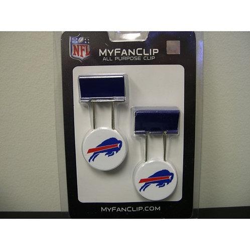 NFL BUFFALO BILLS MYFANCLIP MULTIPURPOSE CLIPS (PACK OF 2)