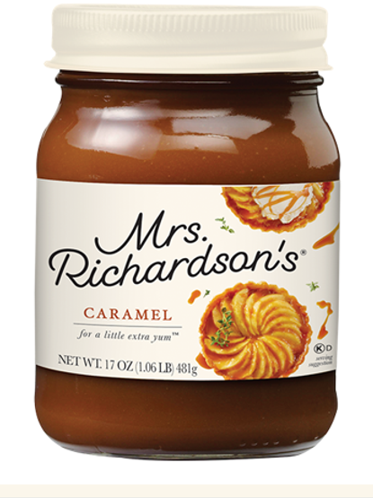 MRS. RICHARDSON'S DESSERT TOPPINGS - CARAMEL JAR