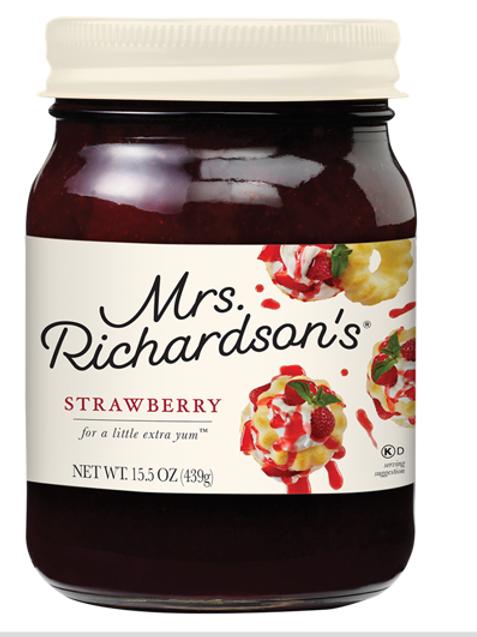 MRS. RICHARDSON'S DESSERT TOPPINGS - STRAWBERRY JAR