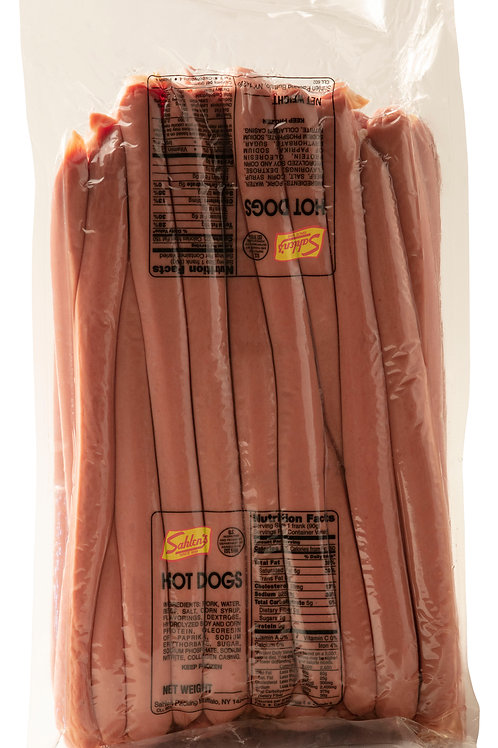 SAHLEN'S FOOT LONG HOT DOGS - 10 LBS (FREE PRIORITY OVERNIGHT SHIPPING)