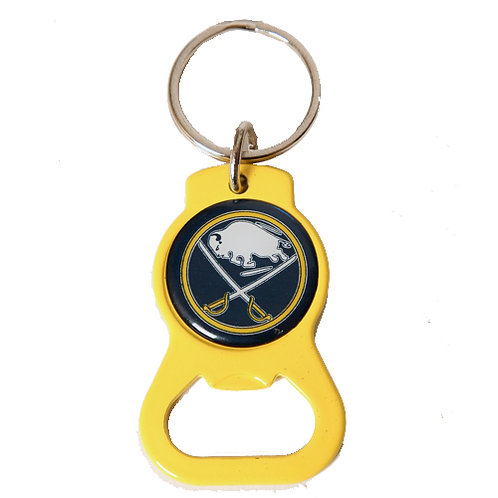 BUFFALO SABRES YELLOW KEY CHAIN WITH BOTTLE OPENER