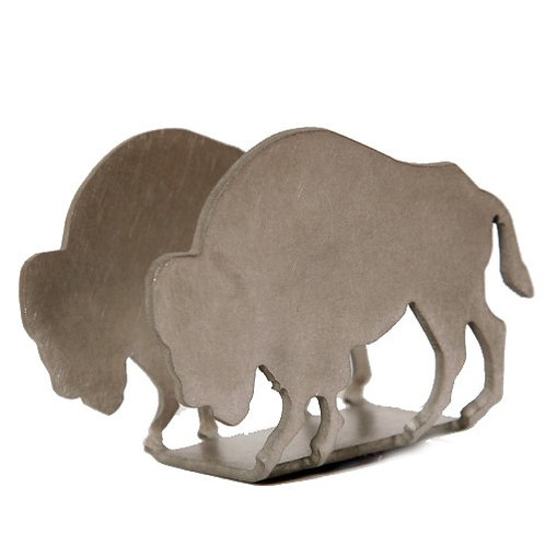 BUFFALO STAINLESS STEEL BUSINESS CARD HOLDER