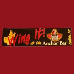 """""""WING IT"""" BUFFALO, NY ANCHOR BAR BUMPER STICKER"""