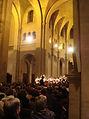 Léonard Ganvert dirige l'Ave verum et l'Ouverture de La Clémence de Titus de Mozart, à Paris.