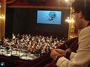 Léonard Ganvert et l'orchestre de l'Opéra Royal de Wallonie-Liège, août 2017.