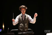Léonard Ganvert, Concours de Jeunes Chefs d'Orchestre 2017 de Besançon (photo Arnaud Castagné, L'Est Républicain)