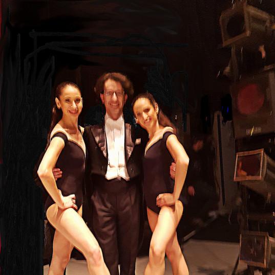 Léonard Ganvert avec deux ballerines