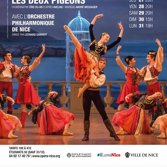 Léonard Ganvert dirige à l'Opéra de Nice - décembre 2018 [crédit D. Jaussein]