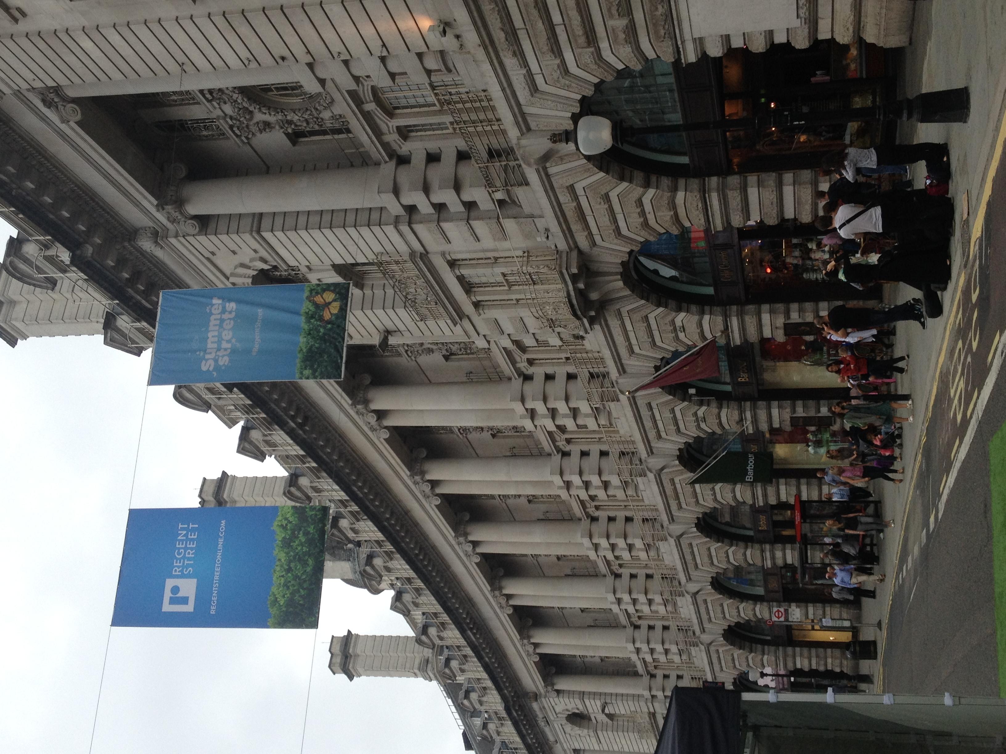 Les musiciens à Regent Street