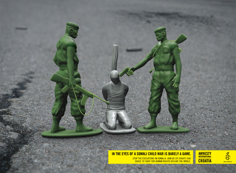 Amnesty International - Toy soldiers