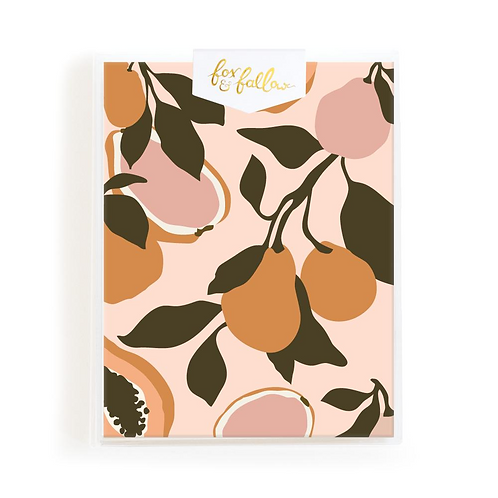 Golden Fruits Greeting Card Boxed Set