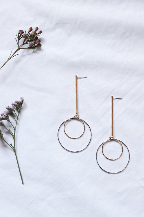 Two Tone Dangling Earring