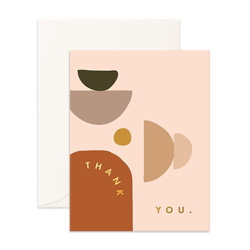 Thankyou Stones Greeting Card