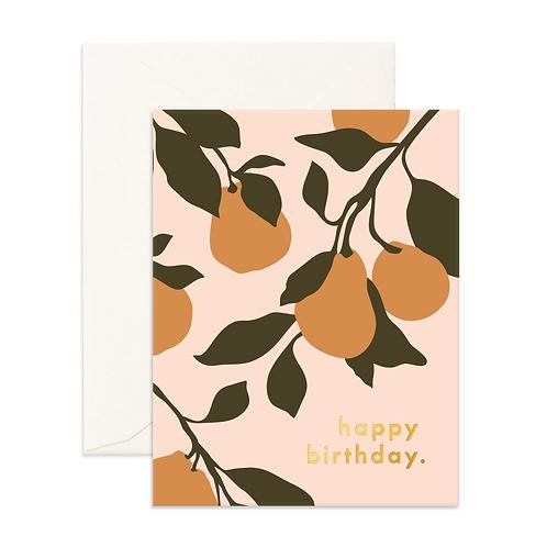 Pears Happy Birthday Card