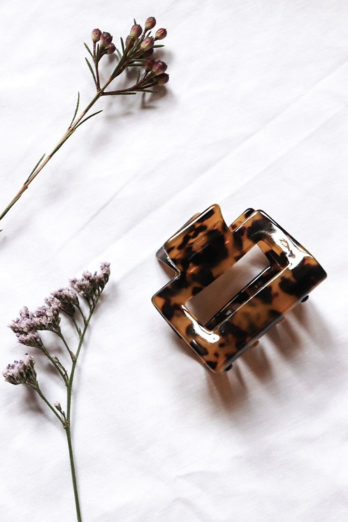 Charlie Acrylic Tort Clips- Leopard
