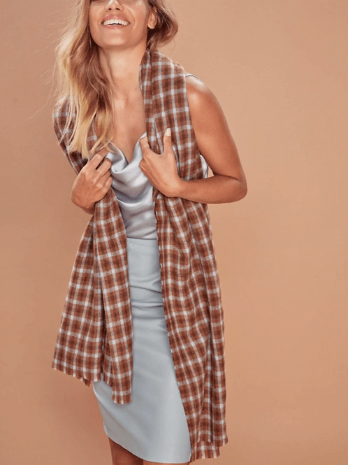 Scarf | Charlie Brown Check Long