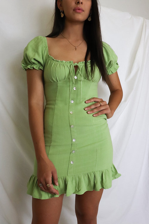 Lime Cooler Mini Dress
