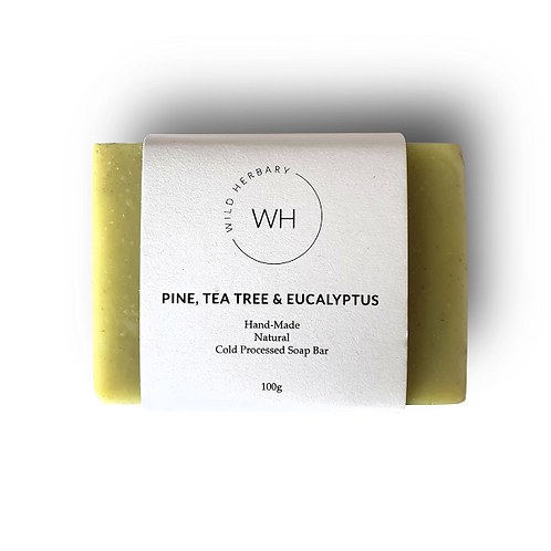 Pine, Tea tree & Eucalyptus Bar 100grm