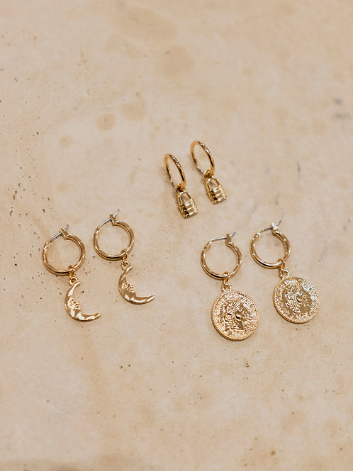 Scarlett Lock, Crescent and Coin Set