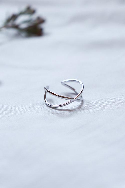 Cross Over Open Ring
