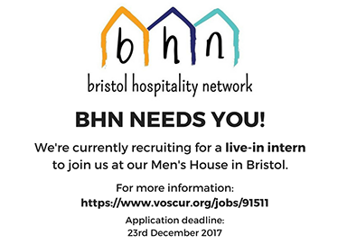 We need you! Live-In Internship with BHN