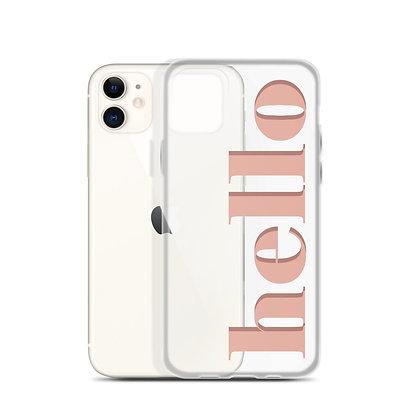 Hello iPhone Case - Pink