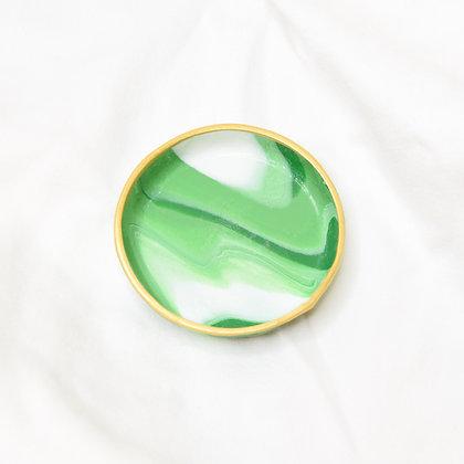 Green Swirl Clay Dishes